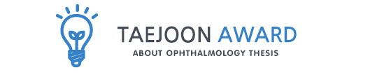 TAEJOON Award about Ophthalmology thesis